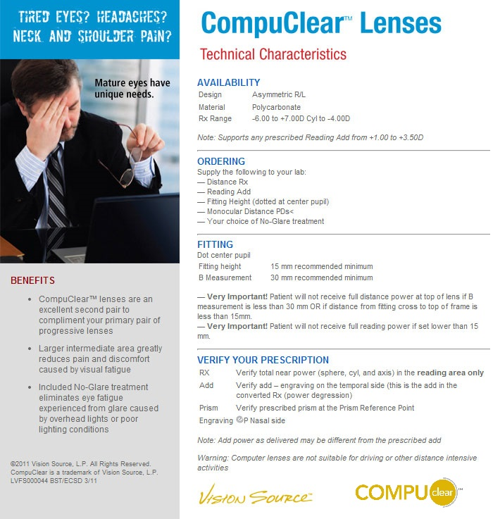 CompuClear Lenses Description